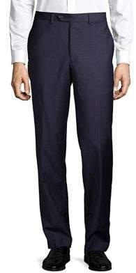 Lauren Ralph Lauren Mini-Check Wool Dress Pants