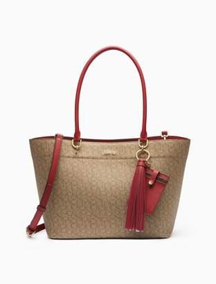 Calvin Klein monogram tote bag + card case