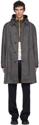 Lanvin Reversible Grey and Beige Check Coat