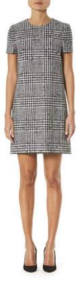 Carolina Herrera Glen Check Wool-Silk Shift Dress