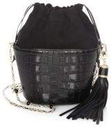 Judith Leiber Couture Embossed Leather Bucket Bag