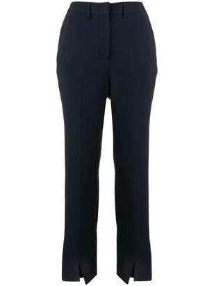 Incotex front slit cropped trousers