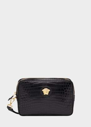 Versace Mock Croc Print Palazzo Pouch