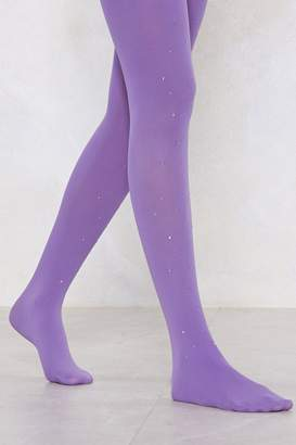 Nasty Gal Are You Ready For Love Diamante Tights