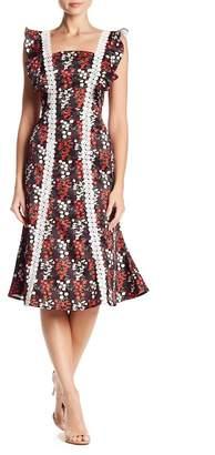 Santi Few Moda Floral Lace Detailed Midi Dress