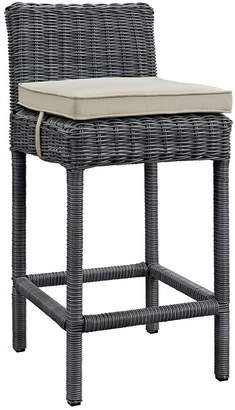 Modway Outdoor Summon Outdoor Patio Wicker Rattan Sunbrella Bar Stool