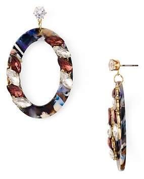Aqua Multicolor Oval Drop Earrings - 100% Exclusive