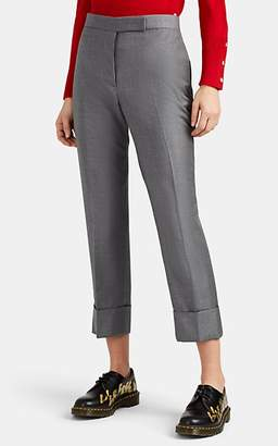 Thom Browne Women's Wool Cuffed Trousers - Gray