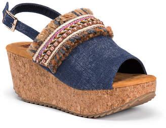 Muk Luks Marion Womens Wedge Sandals