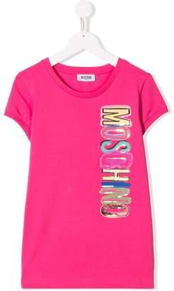 Moschino Kids Rainbow logo T-shirt