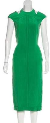 Thom Browne Sleeveless Midi Dress