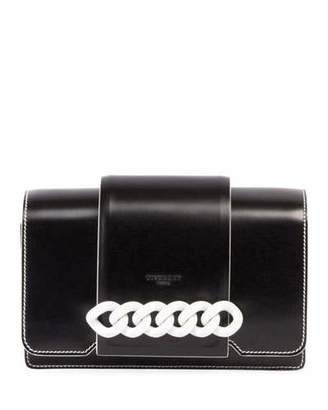 Givenchy Infinity Small Flap Crossbody Bag, Black/White