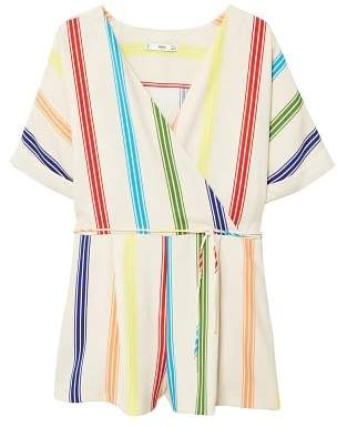 MANGO Cord striped jumpsuit