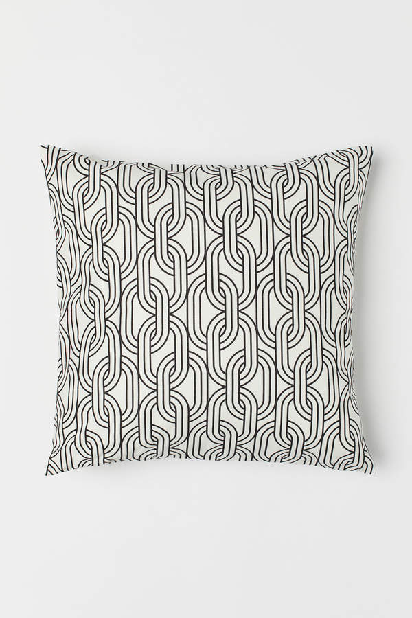 H&M Patterned Cotton Cushion Cover