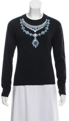 Cacharel Embellished Knit Top