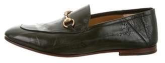 Gucci Eel Skin Horsebit Loafers