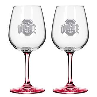NCAA Kohl's Ohio State Buckeyes 2-pc. Wine Glass Set