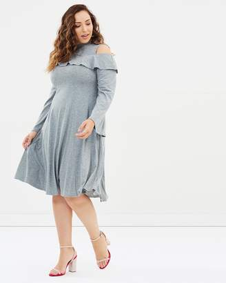 Swing Dress With Cold Shoulder