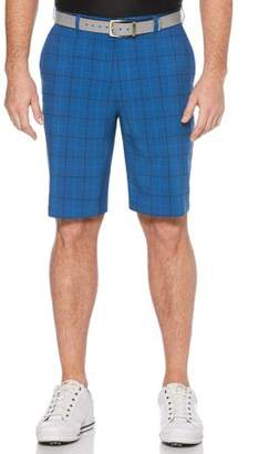 Hogan Ben Big Men's Performance Plaid Active Flex Waistband Golf Shorts