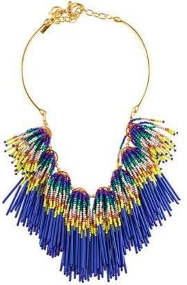 Lele Sadoughi Striped Fringe Necklace