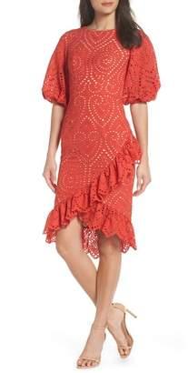 Jarlo Anika Eyelet Cocktail Dress