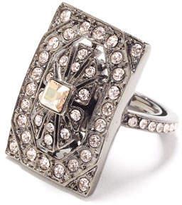 Oscar de la Renta Multi-Crystal Square Ring