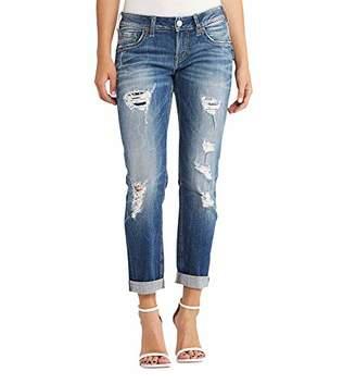 Silver Jeans Co. Women's Sam Mid Rise Boyfriend