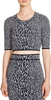 BCBGMAXAZRIA Isabelie Cheetah Jacquard Crop Top - 100% Exclusive