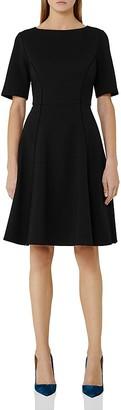 REISS Tianna Stitch-Detail Dress $340 thestylecure.com
