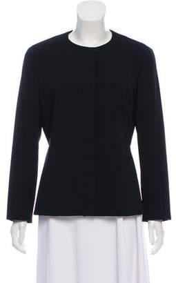 Max Mara Collarless Woven Jacket