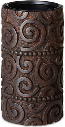 Jla Home Ink & Ivy Pacheco Carved Wood & Iron Large Candle Holder