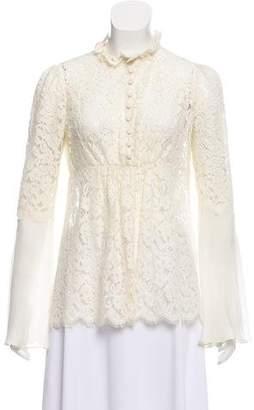 Rachel Zoe Long Sleeve Lace Top