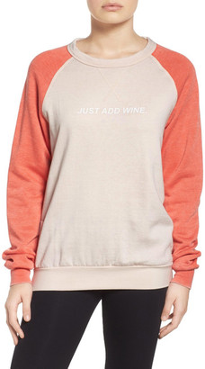 The Laundry Room Just Add Wine Sweatshirt $88 thestylecure.com