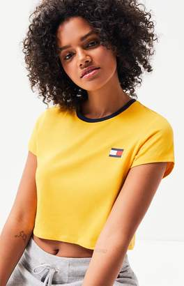 Tommy Hilfiger Flag Cropped T-Shirt