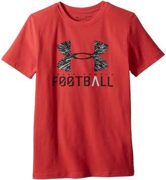 Under Armour Kids UA Football Lockup Short Sleeve Tee Boy's T Shirt