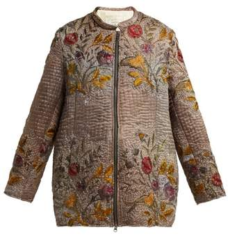 By Walid - Samia Embroidered 19th Century Silk Jacket - Womens - Multi