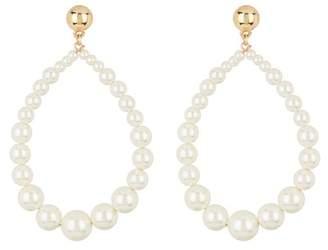 Free Press Imitation Pearl Beaded Teardrop Dangle Earrings