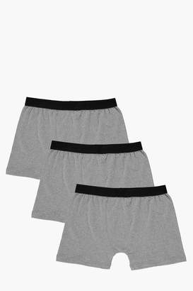 boohoo 3 Pack Plain Grey Trunks