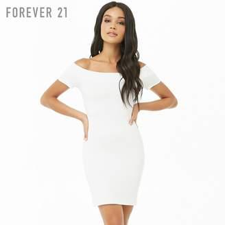 Forever 21 (フォーエバー 21) - Forever 21 オフショルダーネックタイトワンピース
