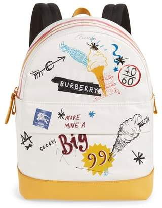 Burberry Burberrry Graphic Canvas Backpack