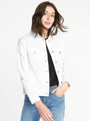 Old Navy Clean-Slate White Denim Jacket for Women