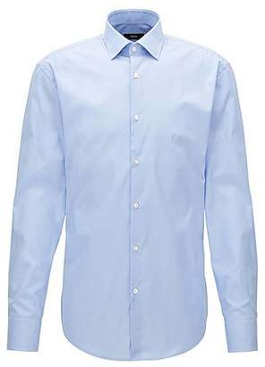 HUGO BOSS Finely checked cotton shirt in a slim fit