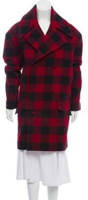 Charles Jeffrey Loverboy Plaid Wool Coat w/ Tags