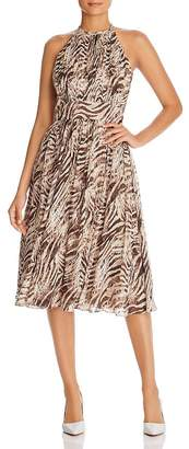 Elie Tahari Dominica Zebra-Print Dress