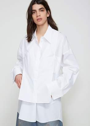 MM6 MAISON MARGIELA Button Down V-neck Shirt