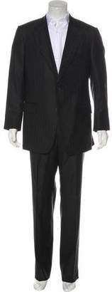 Gucci Striped Wool & Silk Suit