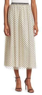 RED Valentino Polka Dot Maxi Skirt