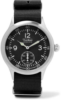 Techne Watches Merlin 246 Stainless Steel And Ballistic Nylon Watch