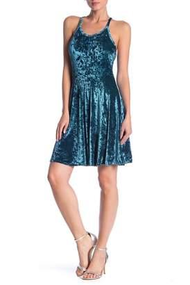 Angie Velvet Skater Dress