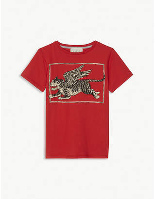 Gucci Winged tiger print t-shirt 4-12 years